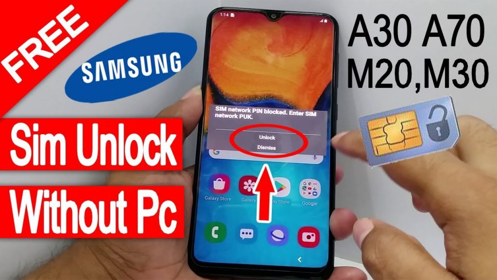 unlock Samsung Galaxy A70 free