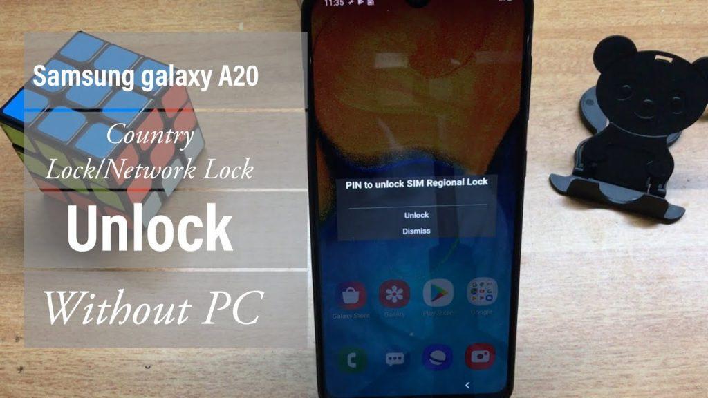 unlock samsung galaxy a20 free