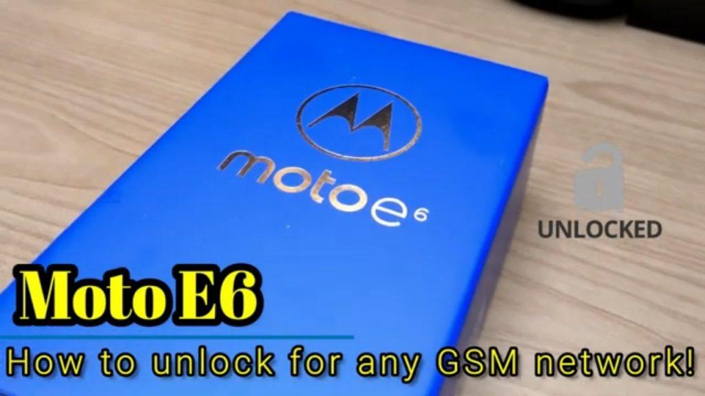 how to unlock Motorola Moto E6
